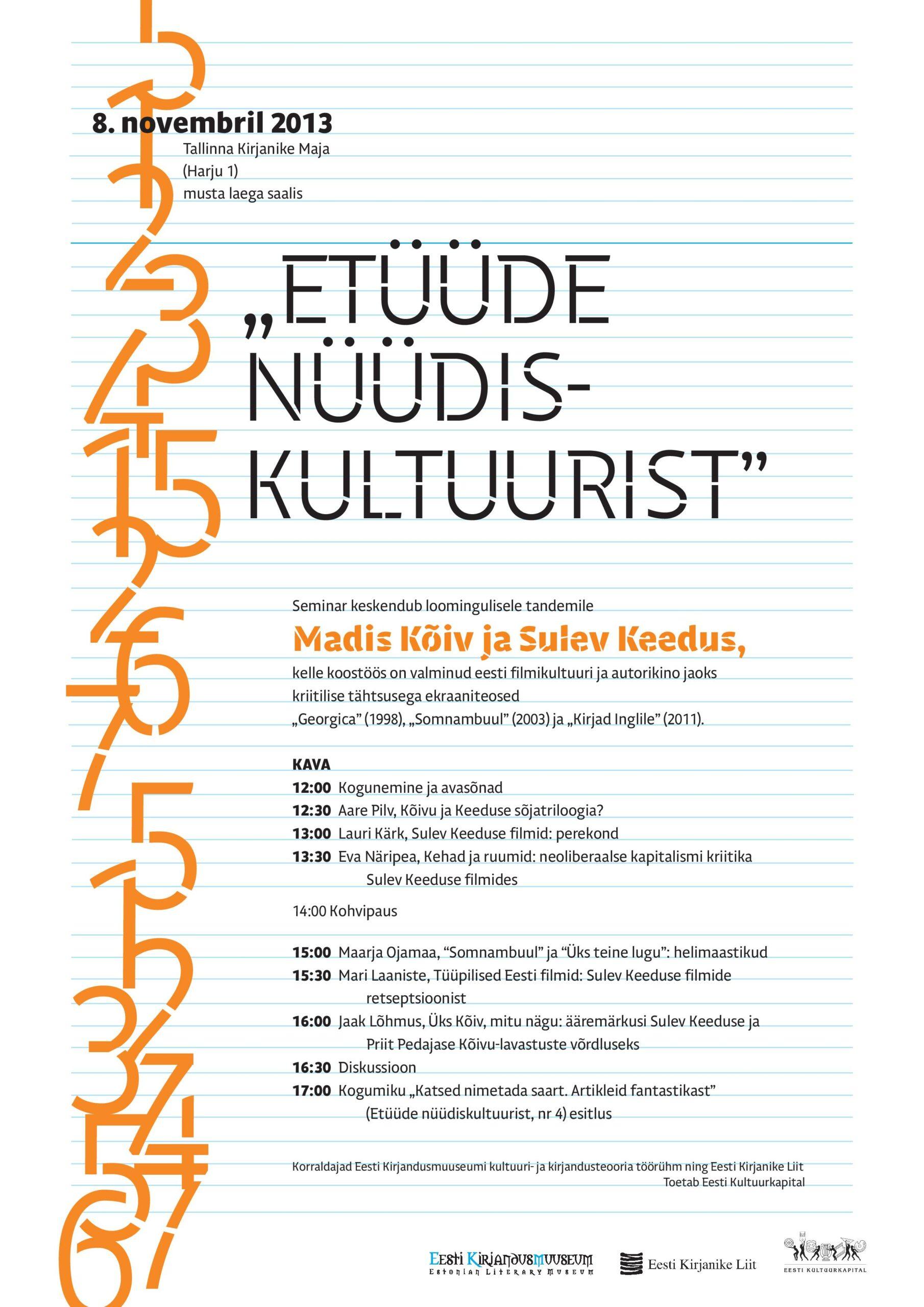 Seminaripäev Sulev Keeduse ja Madis Kõivu filmidest